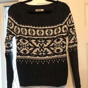 Garage Holiday Pattern Sweater